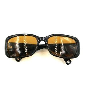 Coach Black Oversized Rectangle Sunglasses Frames